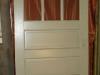Entry door, 3-pane over 3 panels
