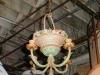 Cast iron basket light fixture