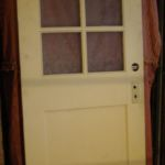 6-lite over 1-panel painted entry door