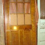 9-lite hammered-glass commercial door