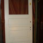Entry door, single-pane over 3 panels