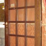 Oak entry door, 18-lite