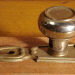 Art Deco knob and plate set side view 201-091507-2-2-1