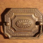 Ornate brass pulls 201-100507-2