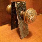 Highest quality cast brass knob & plate set 201-8426-1