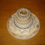 Single bare-bulb cast iron Art Deco fixture 206-4585-1