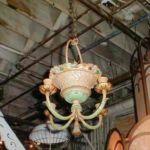 Cast iron basket light fixture 206-6538-1
