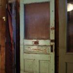 Commercial door with textured glass