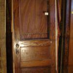 Oak door in jamb